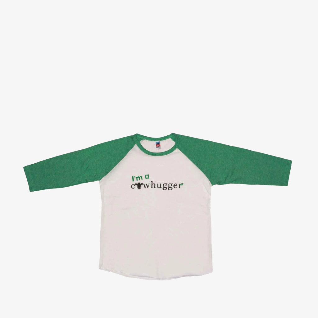 I'm A Cowhugger - Youth Raglan Baseball Shirt