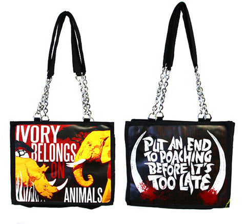 """Ivory Is For Animals"" Medium Tote"