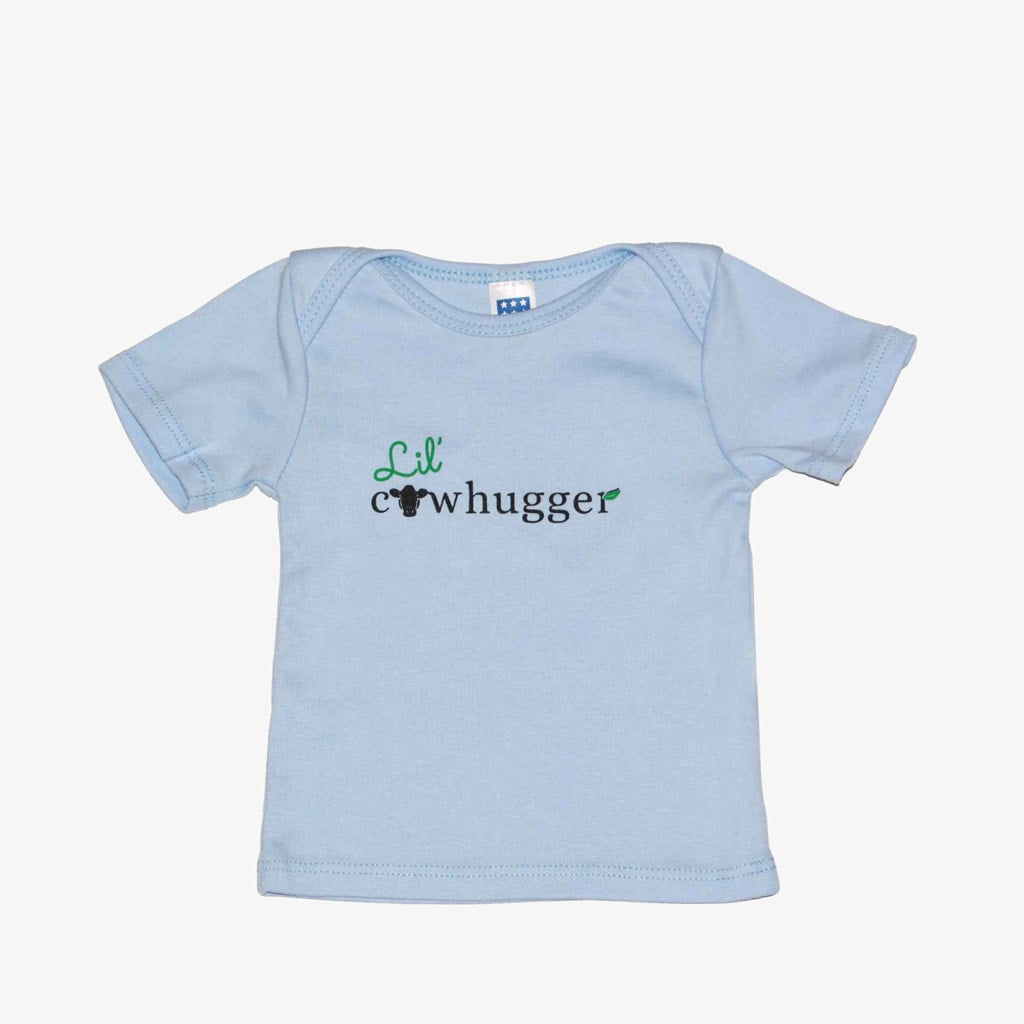 Lil' Cowhugger Lapover Tee - Sky
