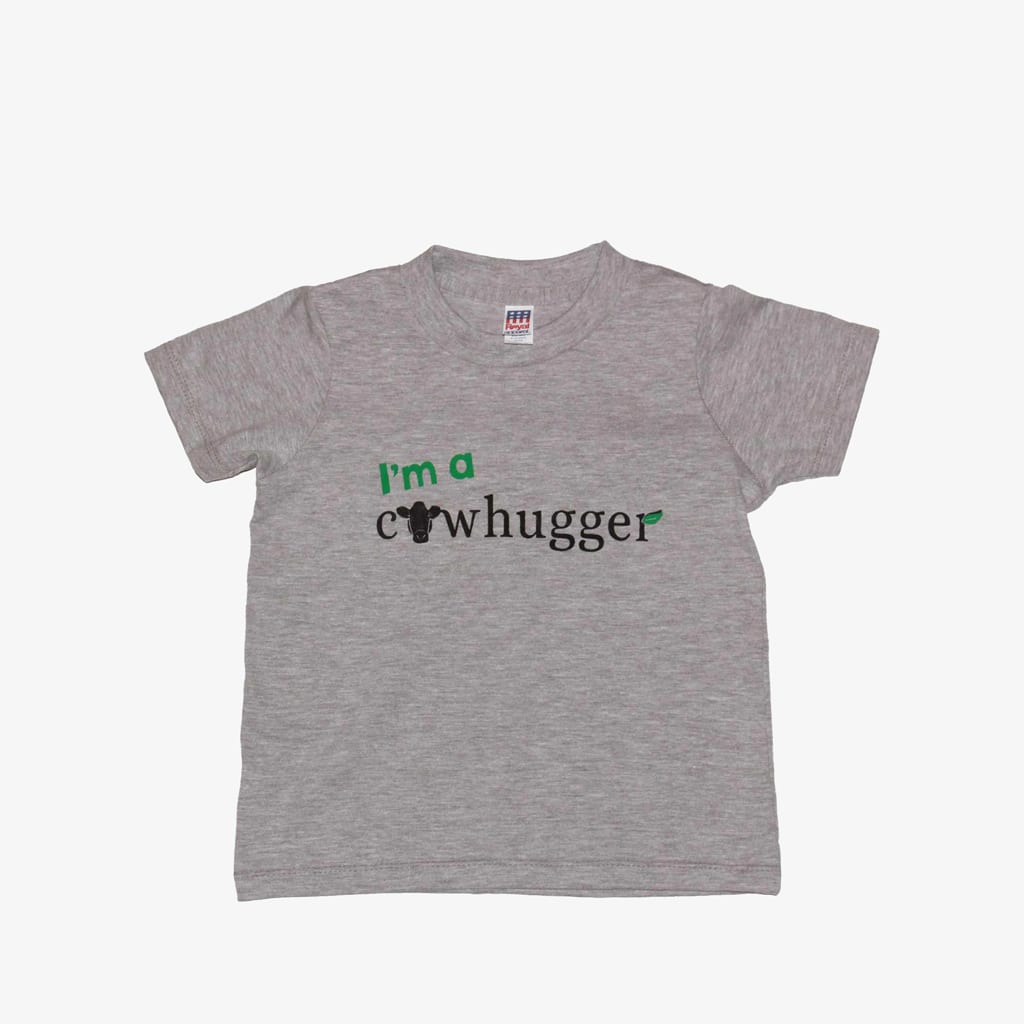 I'm A Cowhugger - Toddler Crew Tee -  Heather Grey