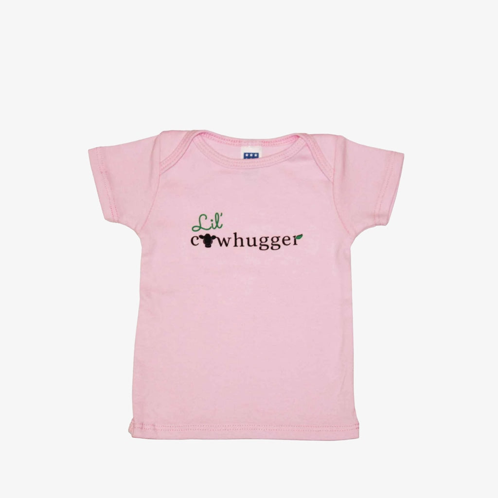 Lil' Cowhugger Lapover Tee - Pink