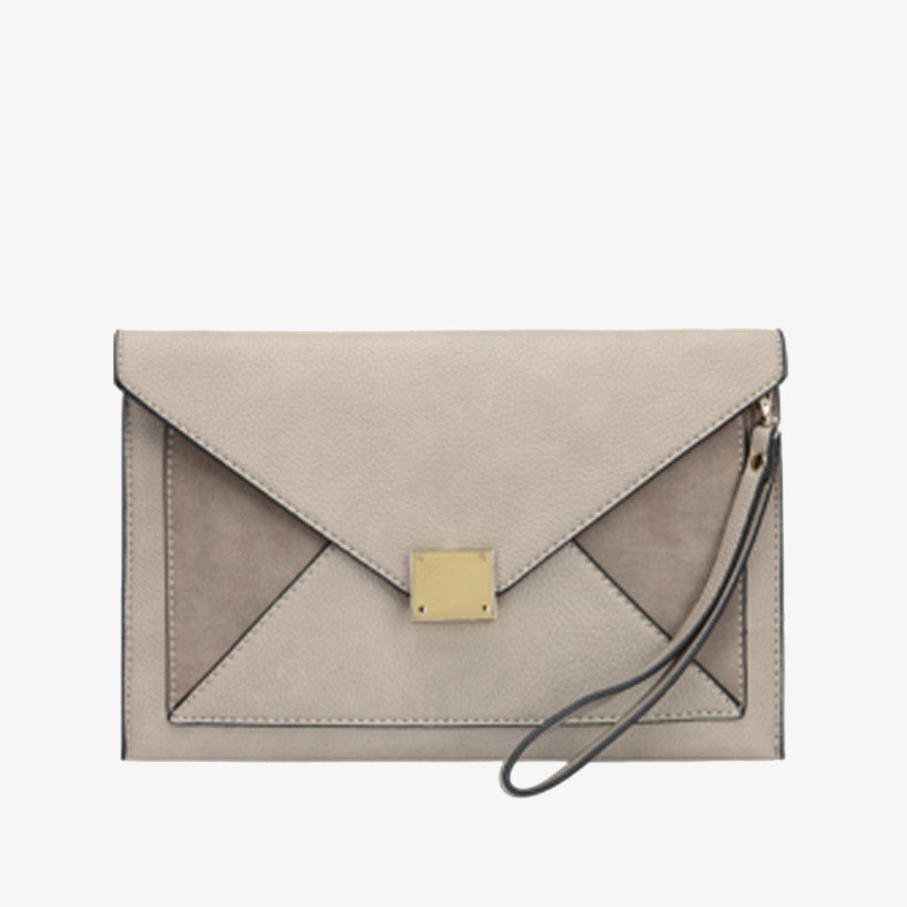 Liv Envelope Clutch - Taupe
