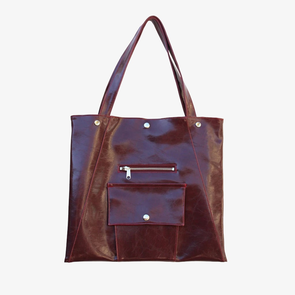 Metier Square Shopper - Burgundy