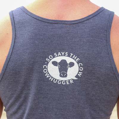 """Save The Animals, Kill The Workout"" Unisex Tank - Heather Navy"
