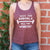 """Save The Animals, Kill The Workout"" Women's Racerback Tank - Burgundy"