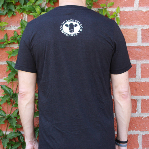 """Save The Animals, Kill The Workout"" T-Shirt - Heather Black"