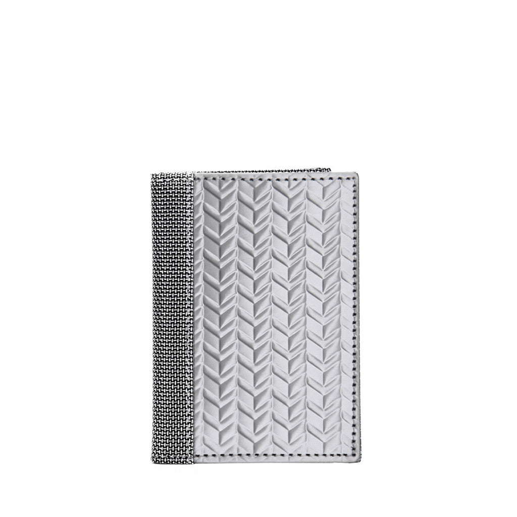 Stainless Steel Driving Wallet - Herringbone