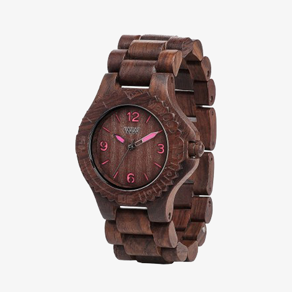 Kale Wood Watch - Choco Pink