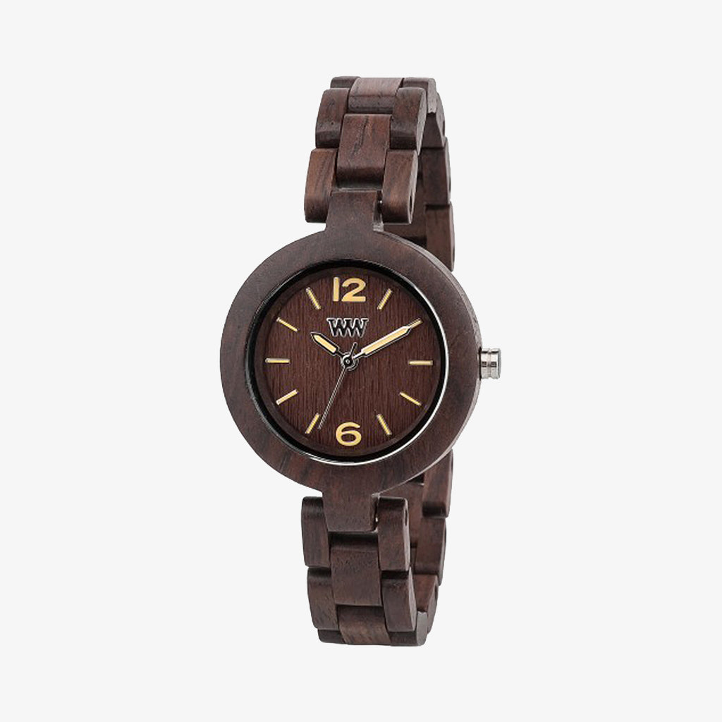 Mimosa Wood Watch - Chocolate