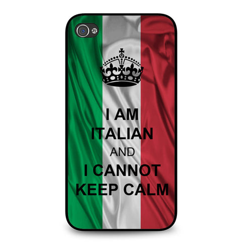 I Am Italian And I Can Not Keep Calm iPhone 4 4S case