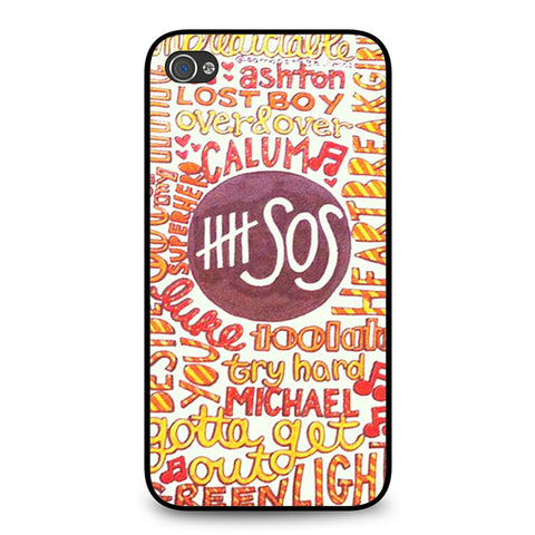 5 Seconds Of Summer 5SOS Quote Design iPhone 4 4S case