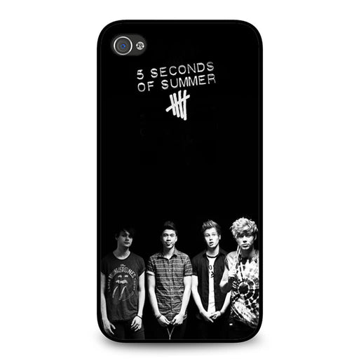 5 Seconds of Summer B/W Photograph iPhone 4 4S case