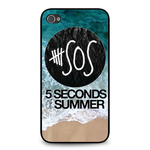 5 Seconds of Summer Band The Beach iPhone 4 4S case