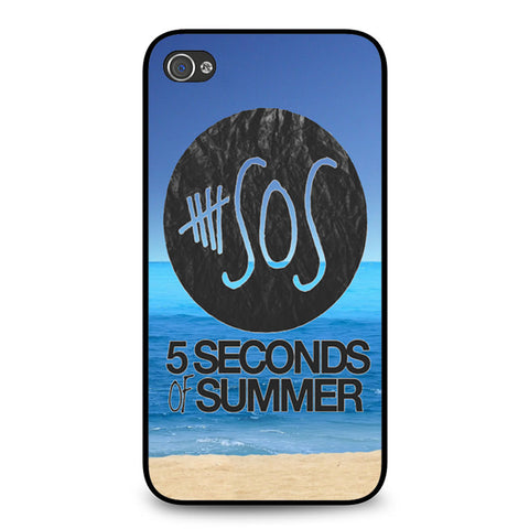 5 Seconds of Summer Beach iPhone 4 4S case