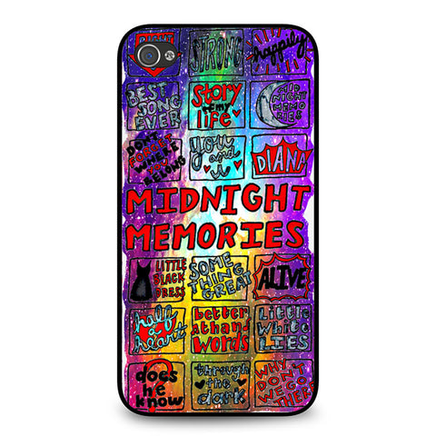 1d Midnight Memories Collage iPhone 4 4S case