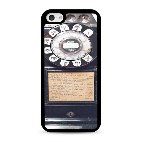 Black Retro Pay Phone iPhone 5C case