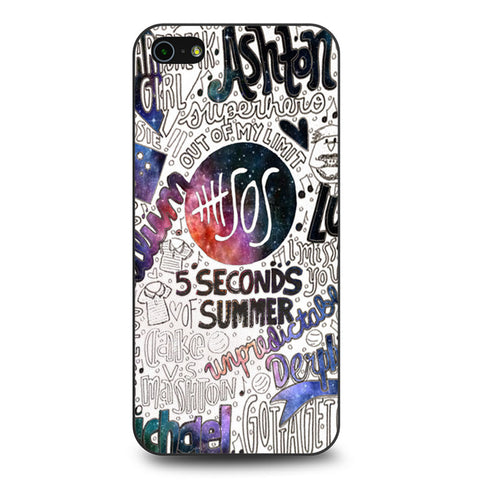 5 Seconds Of Summer Collage iPhone 5 5s SE case
