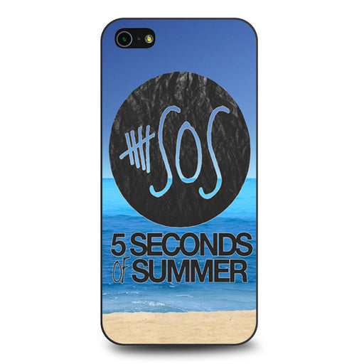 5 Seconds of Summer Beach iPhone 5 5s SE case