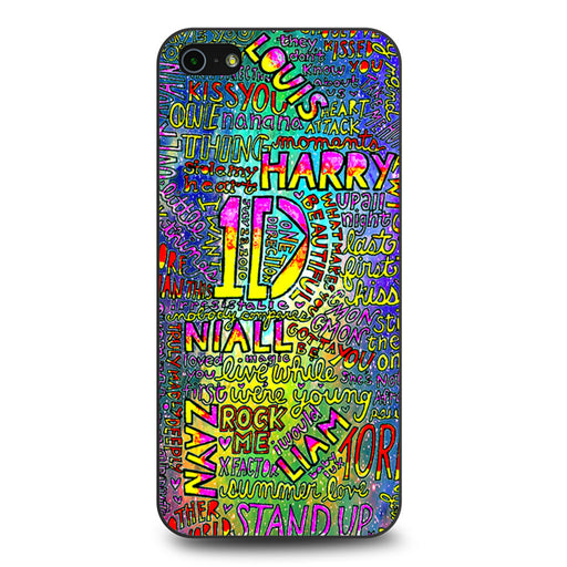 1D One Direction Lyrics iPhone 5 5s SE case