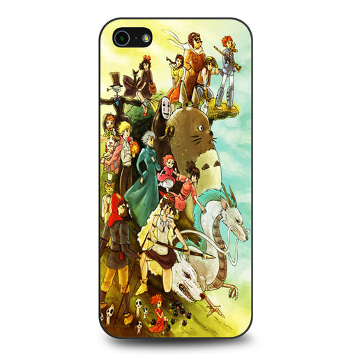 Studio Ghibli Characters iPhone 5 5s SE case