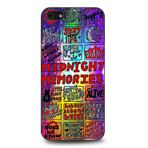 1d Midnight Memories Collage iPhone 5 5s SE case