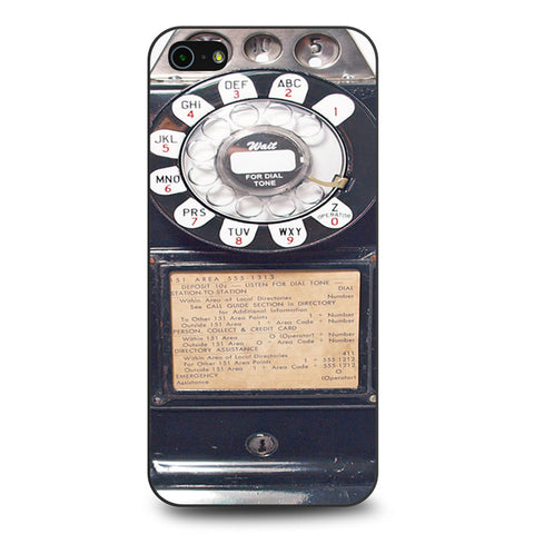 Black Retro Pay Phone iPhone 5 5s SE case