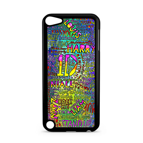 1D One Direction Lyrics iPod Touch 5 case