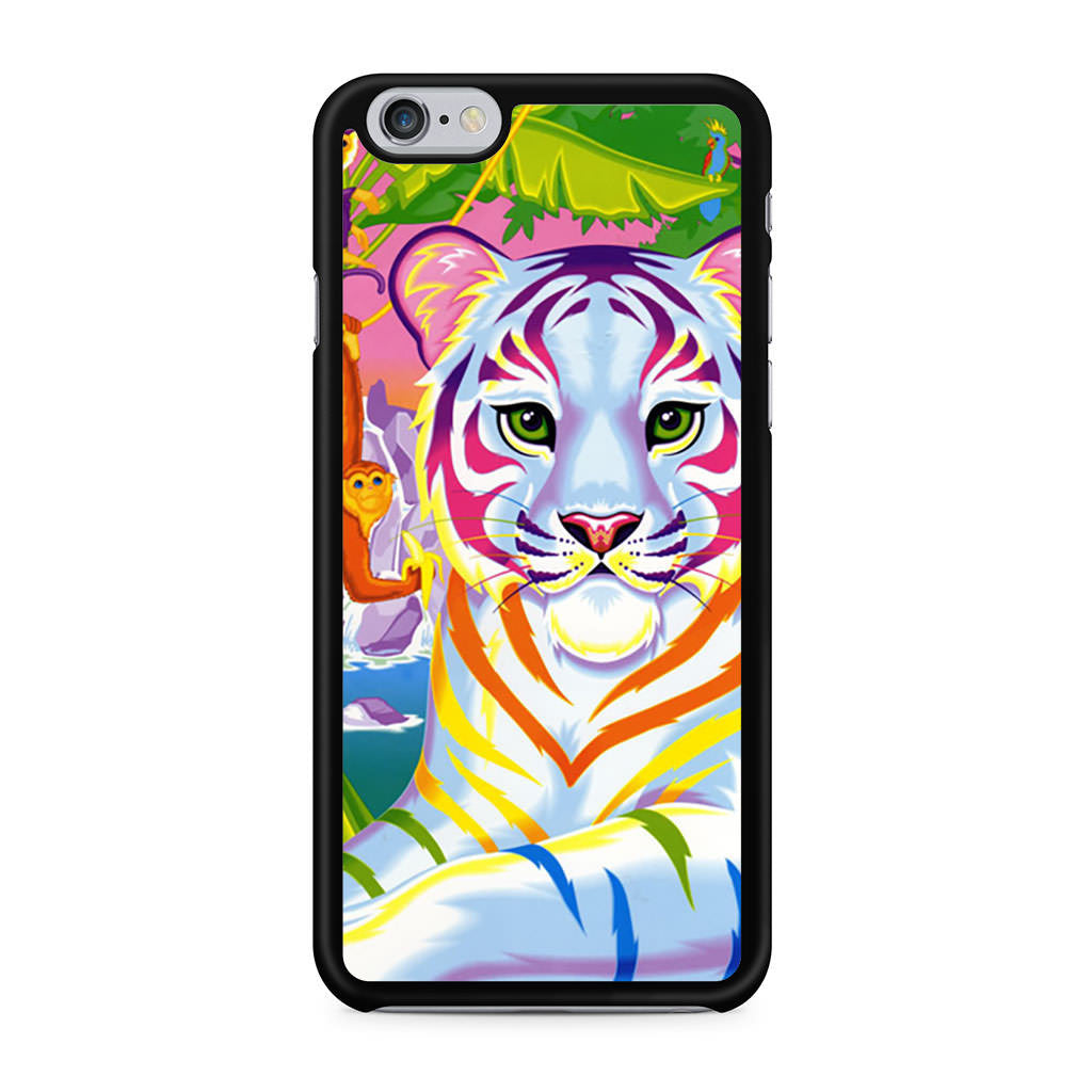 Lisa Frank Neon Tiger and Monkey 90's iPhone 6 6s case