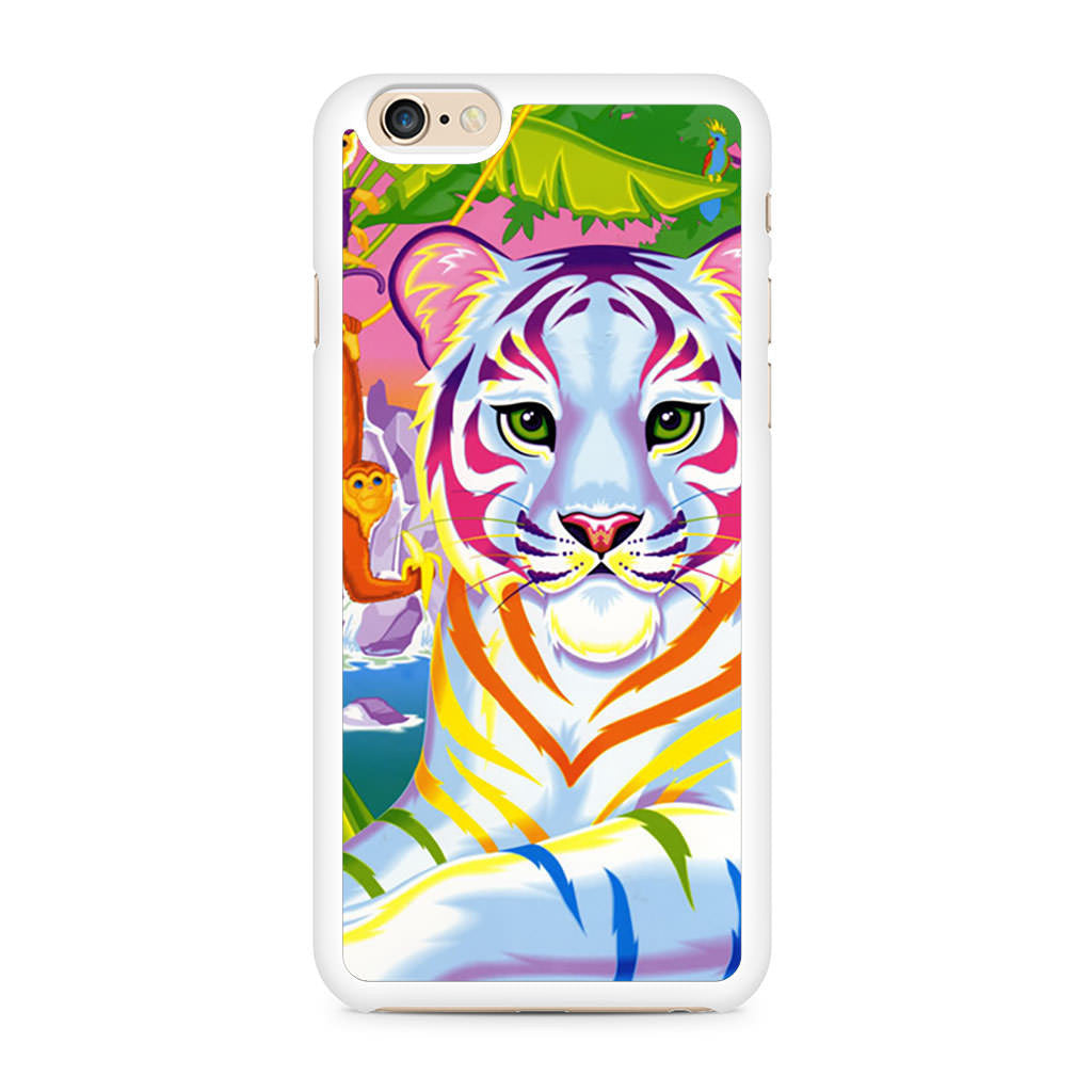 Lisa Frank Neon Tiger and Monkey 90's iPhone 6/6s case