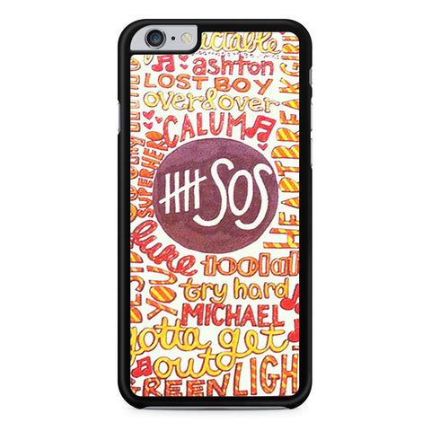 5 Seconds Of Summer 5SOS Quote Design iPhone 6 Plus 6s Plus case