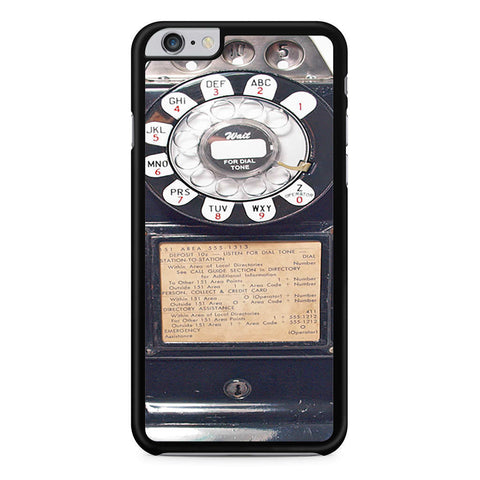 Black Retro Pay Phone iPhone 6 Plus 6s Plus case