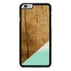 Wood Teal Geometric iPhone 6 Plus 6s Plus case