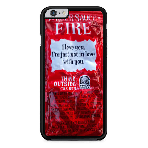 Taco Bell Sauce iPhone 6 Plus 6s Plus case