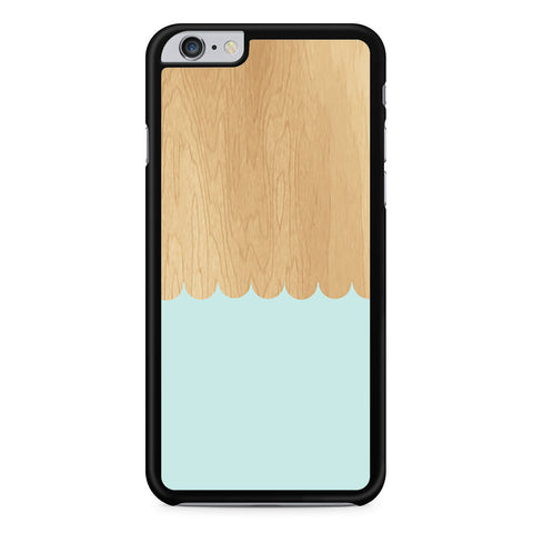 Mint Blue Wood Pattern iPhone 6 Plus 6s Plus case