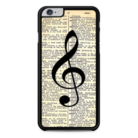Musical Notes and Old newspaper iPhone 6 Plus 6s Plus case