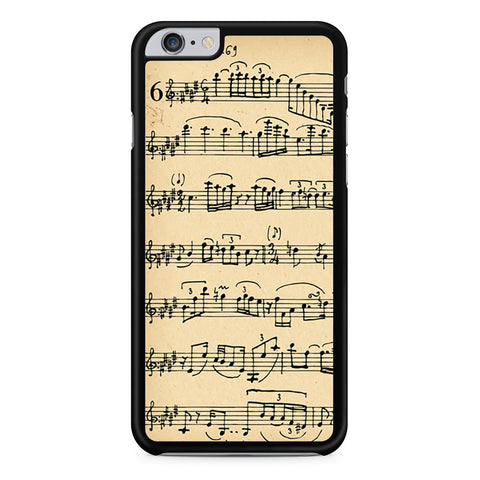 Music Note Winter White Mozart iPhone 6 Plus 6s Plus case