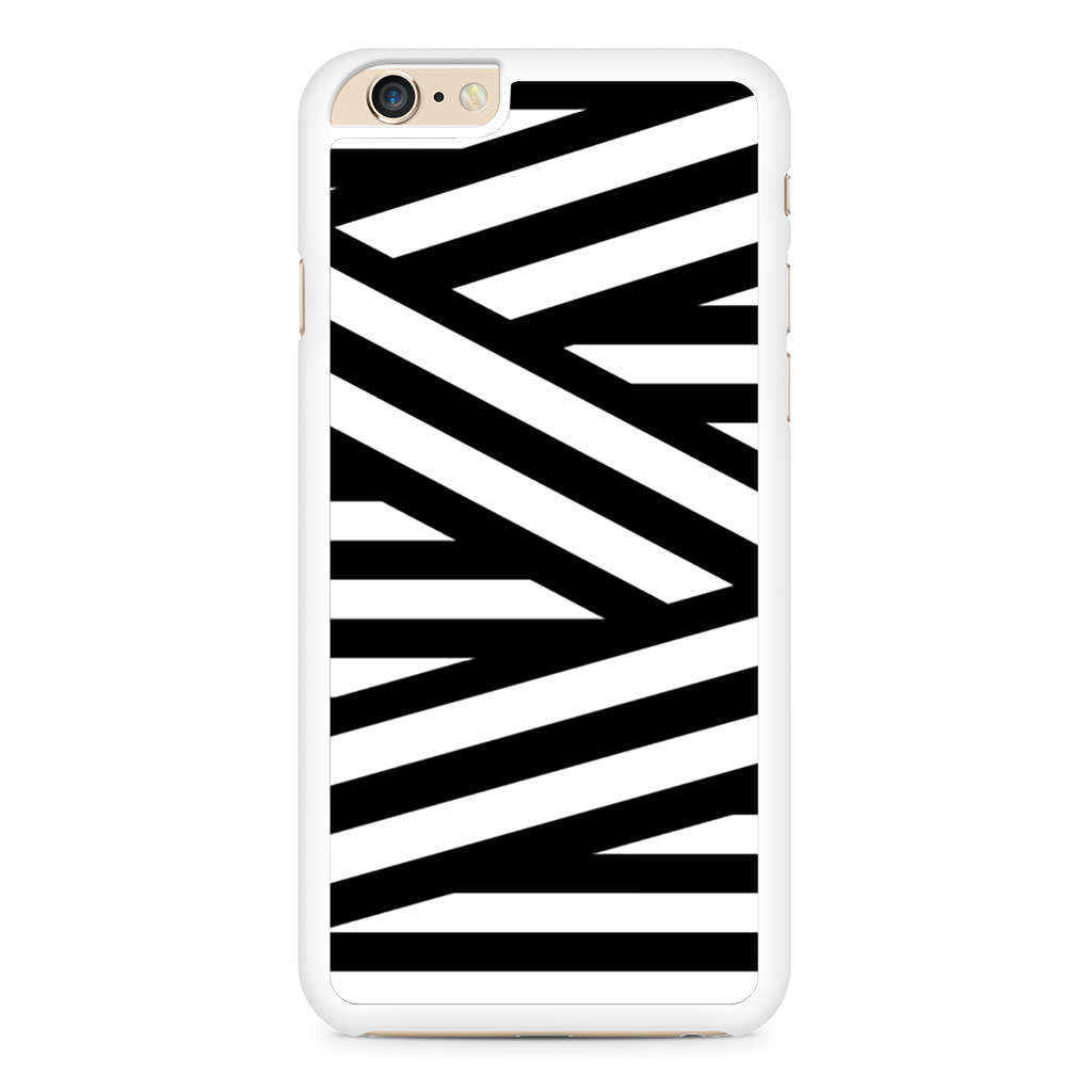 Black and White Zig Zag Stripes iPhone 6 Plus / 6s Plus case