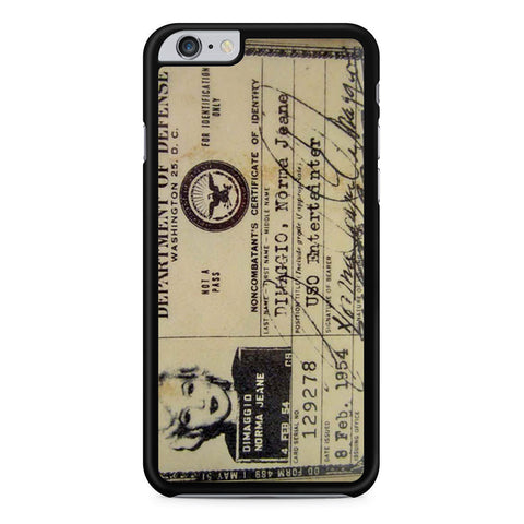 Marilyn Monroe Identification Card iPhone 6 Plus 6s Plus case