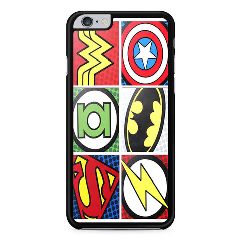 Superhero Logo Flash Batman Captain America iPhone 6 Plus 6s Plus case
