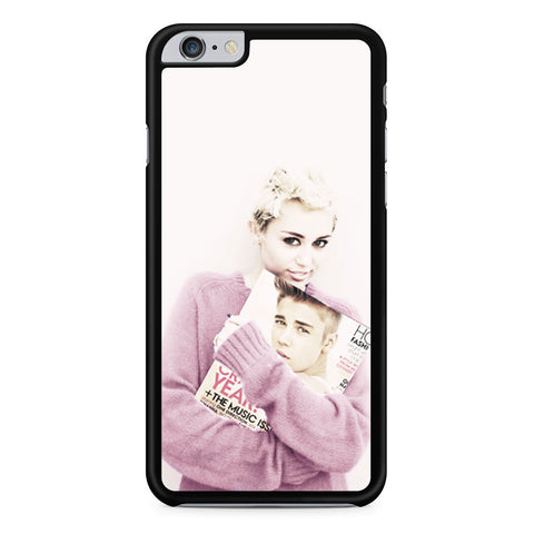Miley Cyrus and Justin Bieber in Magz iPhone 6 Plus 6s Plus case