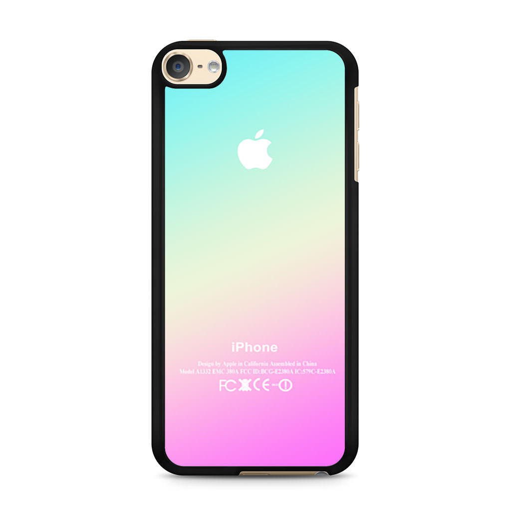 New Pink Aqua Apple Logo Gradient Ombre Silicone iPod ... Ipod 5 Pink Cases