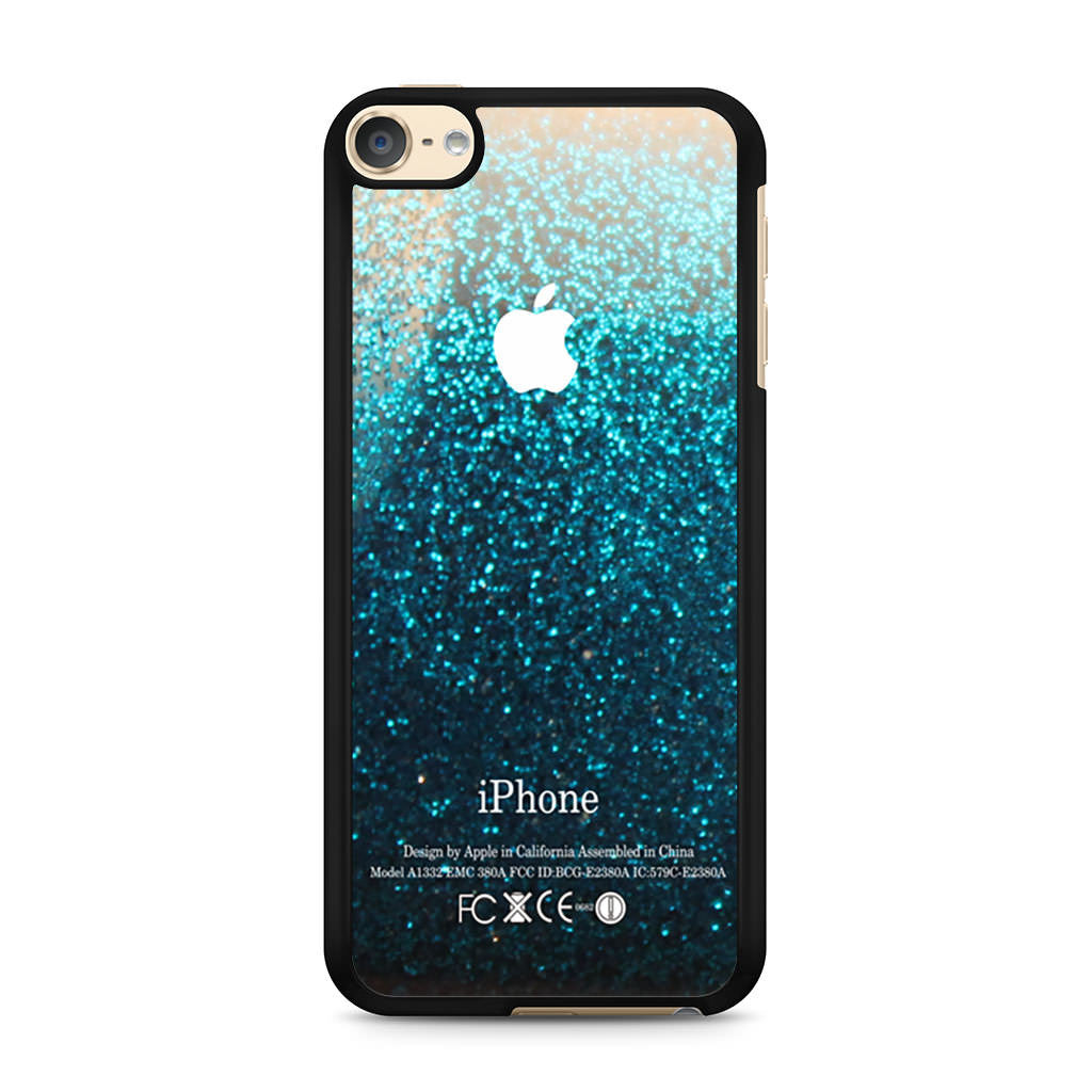 blue water faux glitter ipod touch 6 case case persona. Black Bedroom Furniture Sets. Home Design Ideas