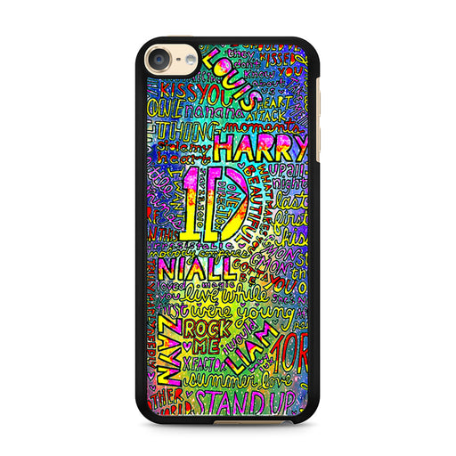 1D One Direction Lyrics iPod Touch 6 case