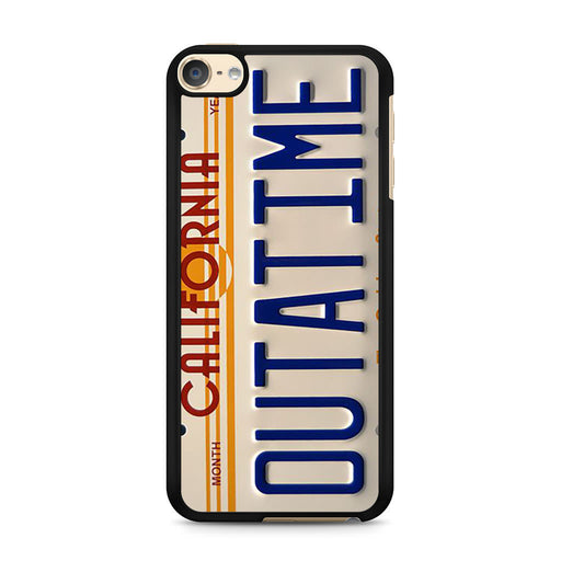Back To The Future Delorean License Plate iPod Touch 6 case
