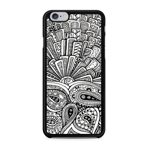 Zentangle Monogram iPhone 6 6s case