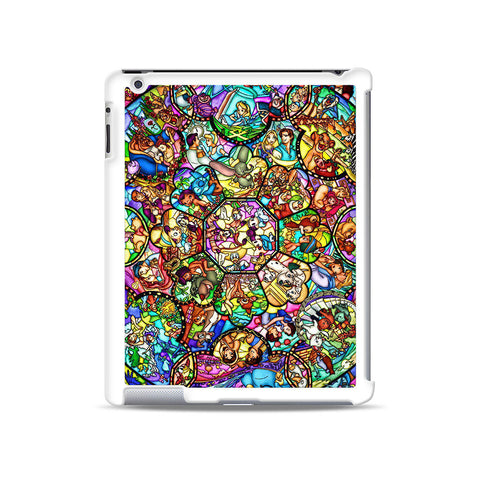 Disney Characters Stained Glass iPad case