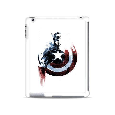 Captain America Watercolor iPad case