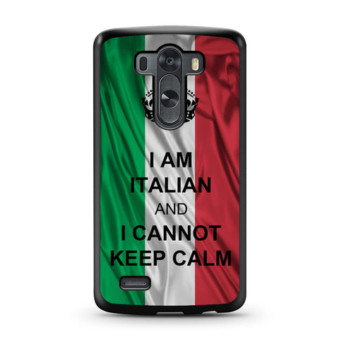 I Am Italian And I Can Not Keep Calm LG G3 case