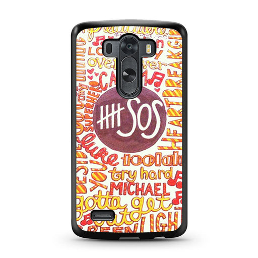 5 Seconds Of Summer 5SOS Quote Design LG G3 case