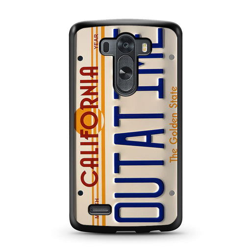 Back To The Future Delorean License Plate LG G3 case